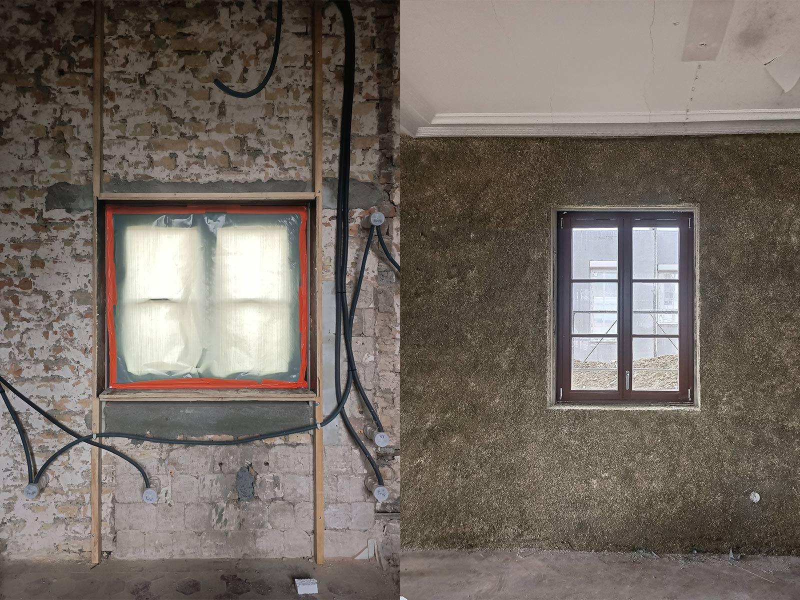de la préparation des murs au rendu après projection béton chanvre